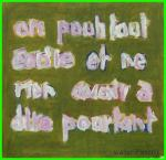 painting , words