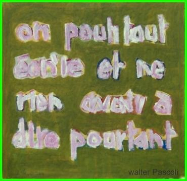 painting , words , contemporary art